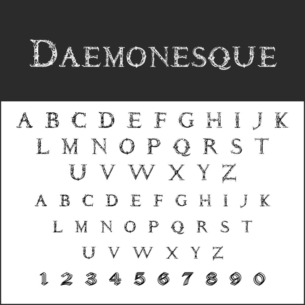 Halloween-Schrift: Daemonesque