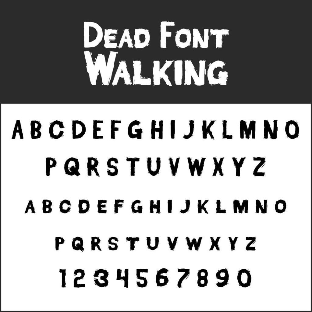 Halloween-Schrift: Dead Font Walking