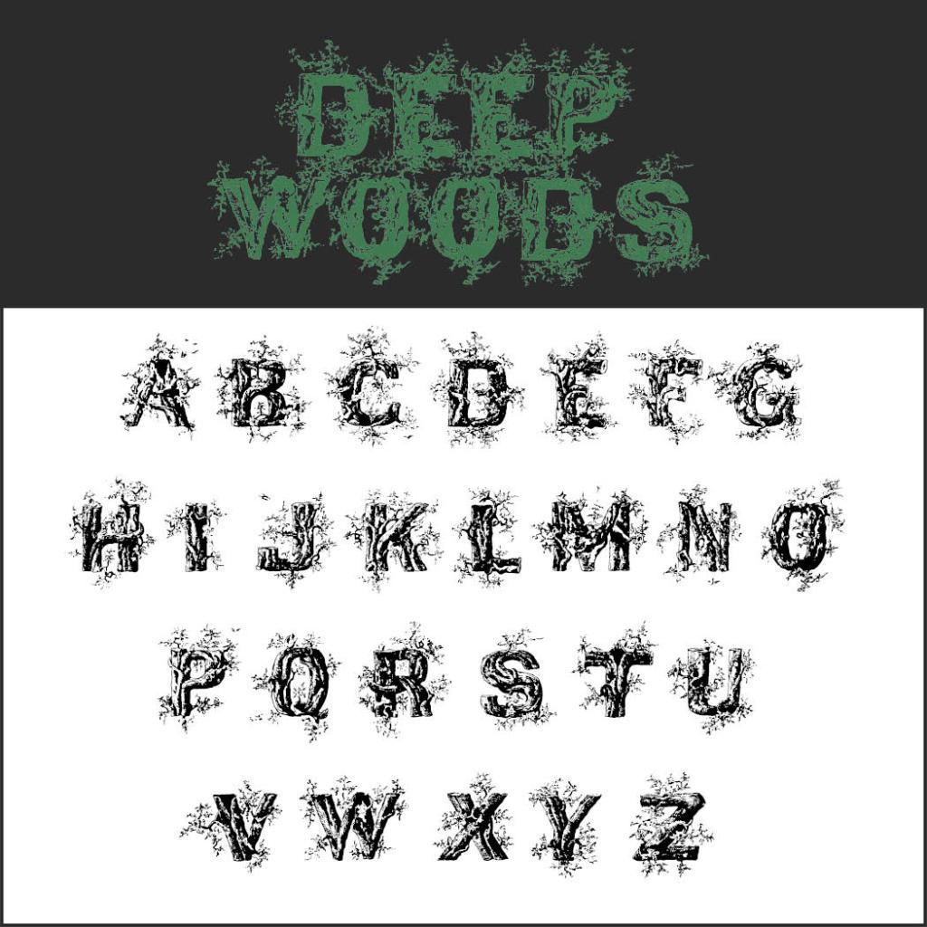 Halloween-Schrift: Deep Woods Initials