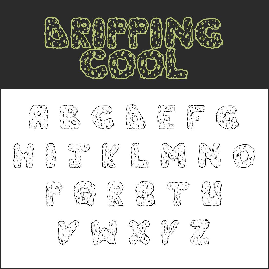 Halloween-Schrift: Dripping Cool