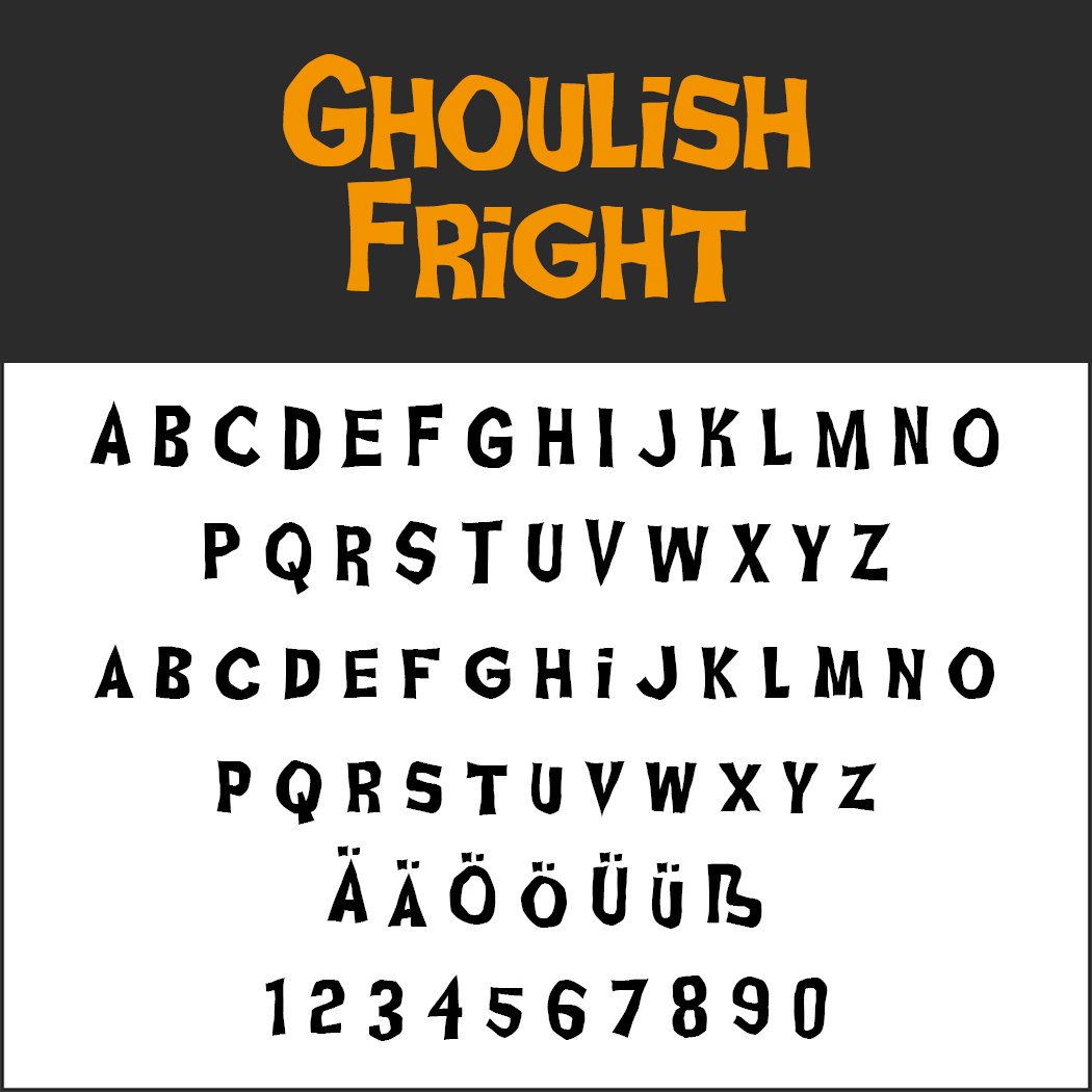 Halloween-Schrift: Ghoulish Fright