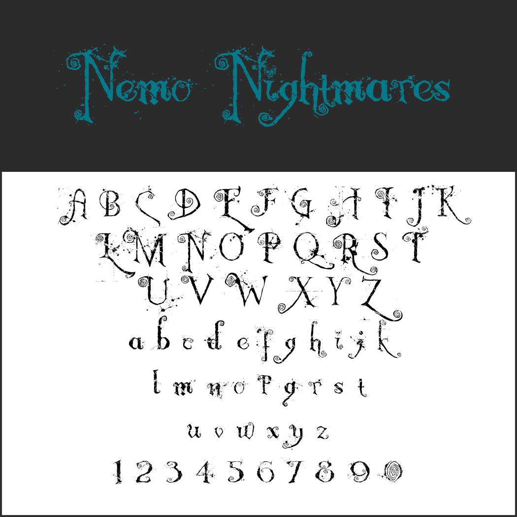 Halloween-Schrift: Nemo Nightmares