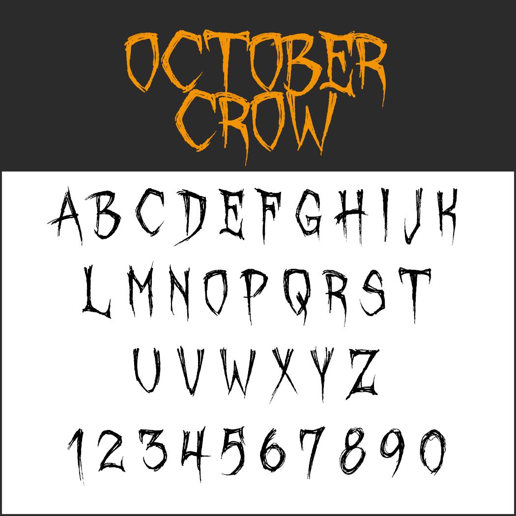Halloween-Schrift: October Crow