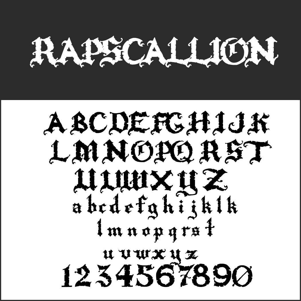 Halloween-Schrift: Rapscallion