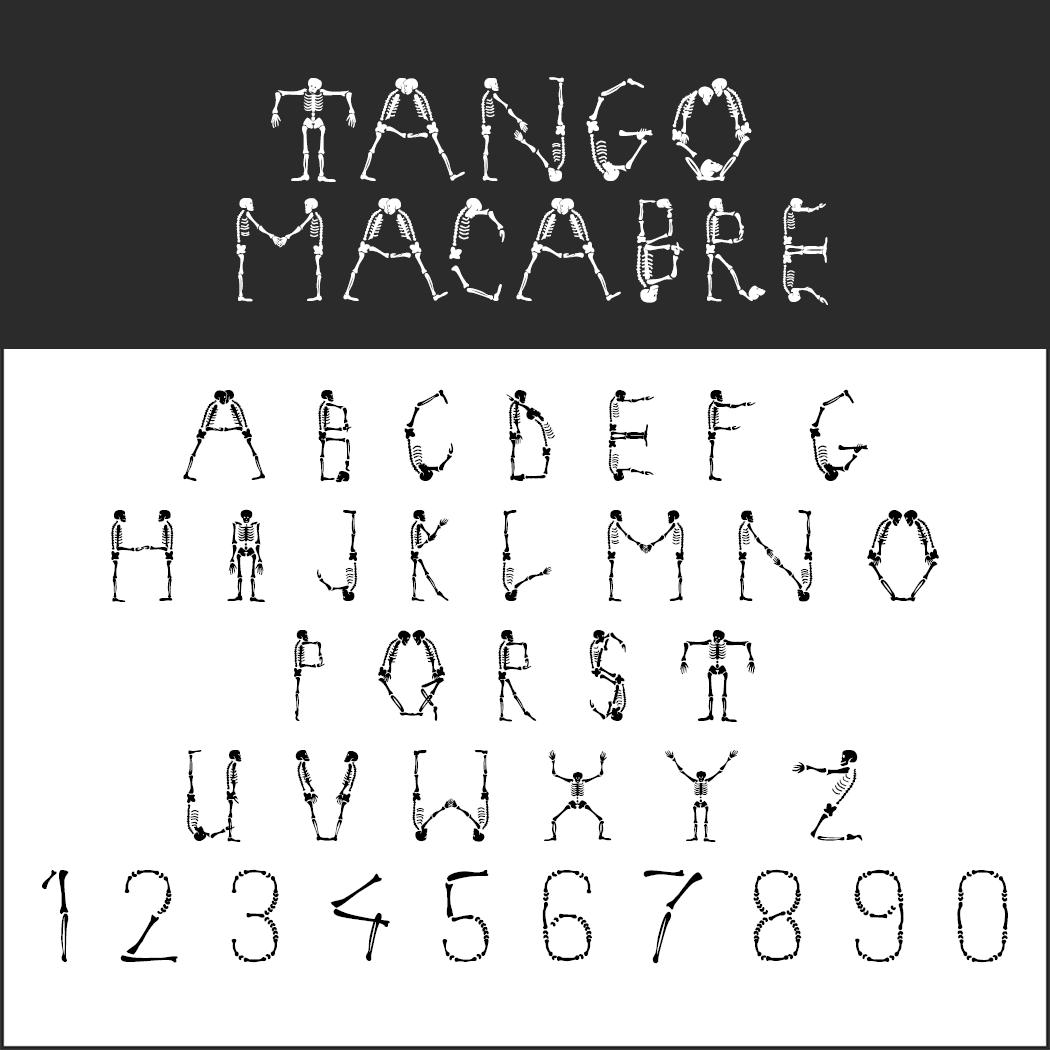 Halloween-Schrift: Tango Macabre