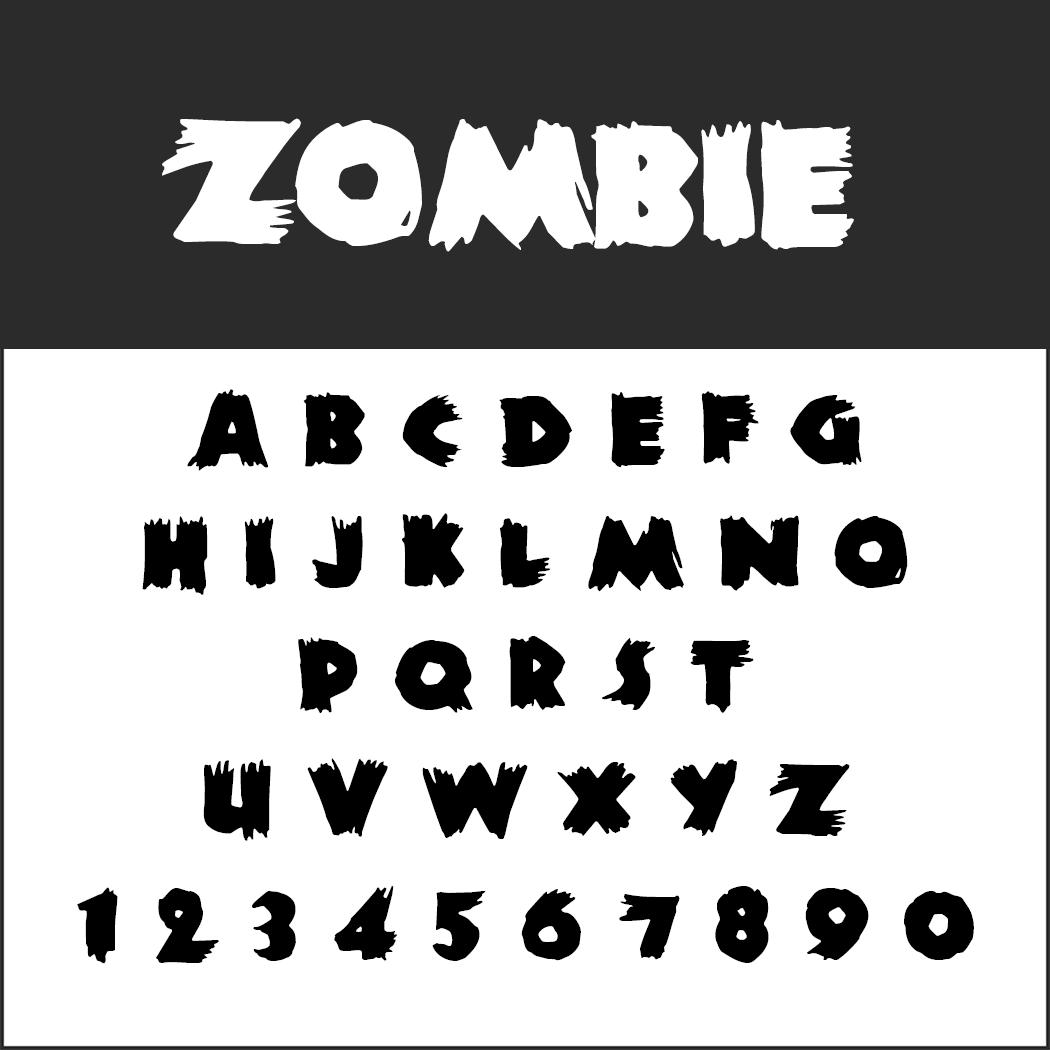 Halloween-Schrift: Zombie
