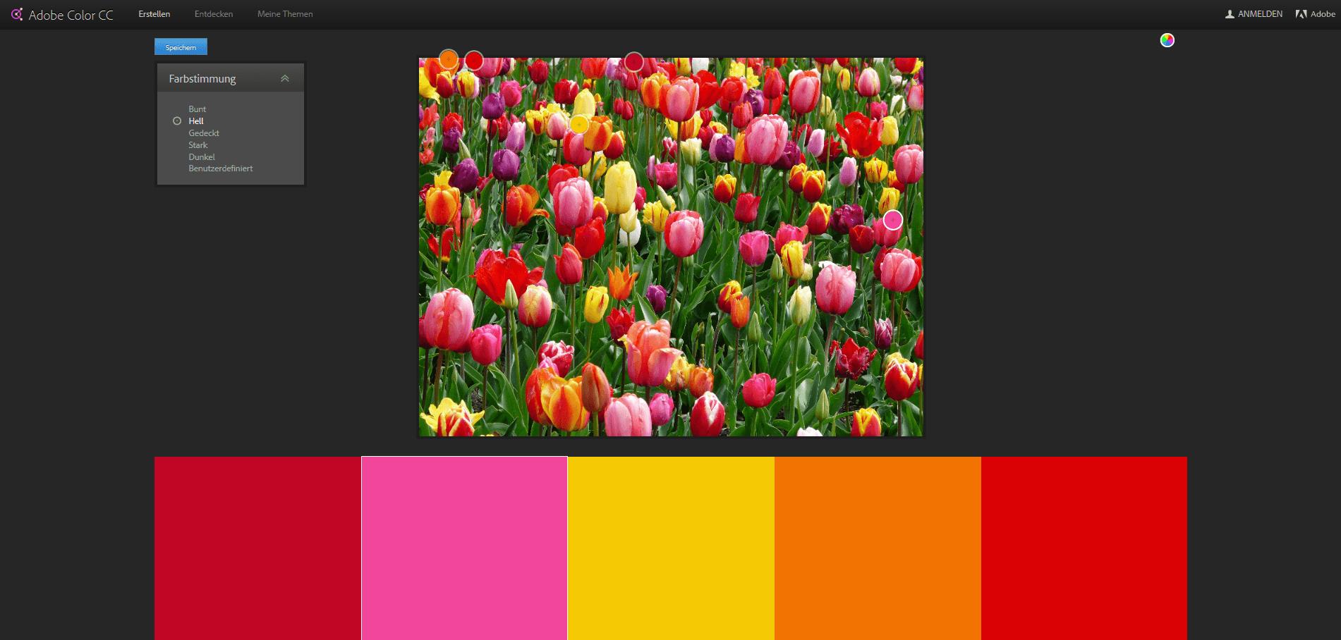 Farbdesigns aus Bildern generieren mit Adobe Color CC