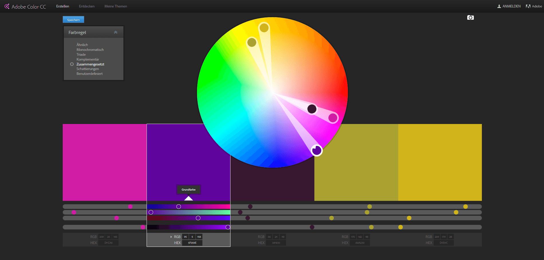 Farbkombination mit Adobe Color CC