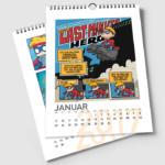 Comic Jam Kalender im Format A4 mit schwarzer Spiralbindung