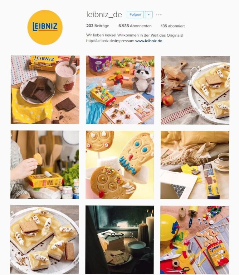 Instagram für Unternehmen   Instagram-Auftritt der Marke Leibniz