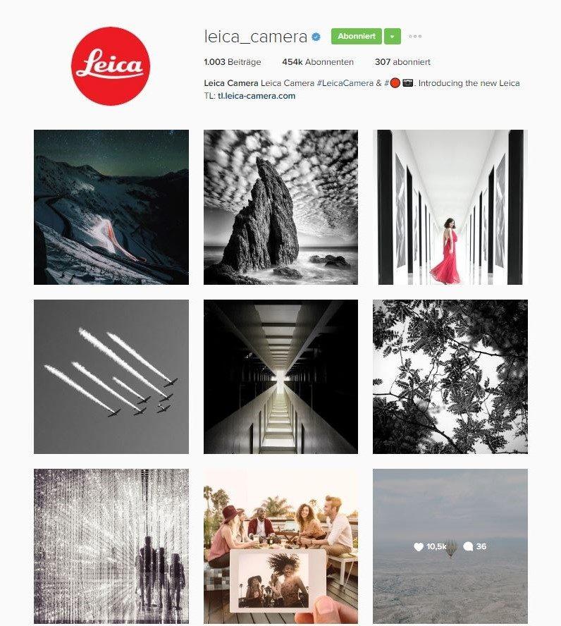 Instagram für Unternehmen | Instagram-Auftritt der Marke Leica