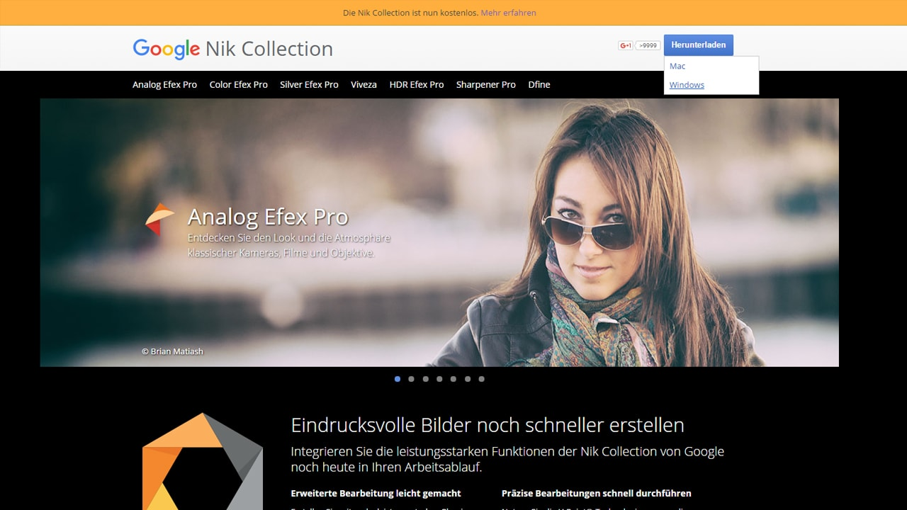 Photoshop-Tutorial: Google Nik Collection