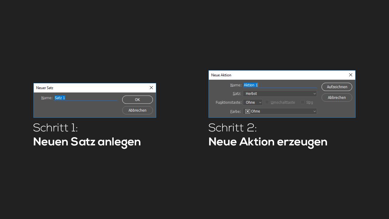 Photoshop-Tutorial: Neue Photoshop-Aktion erstellen
