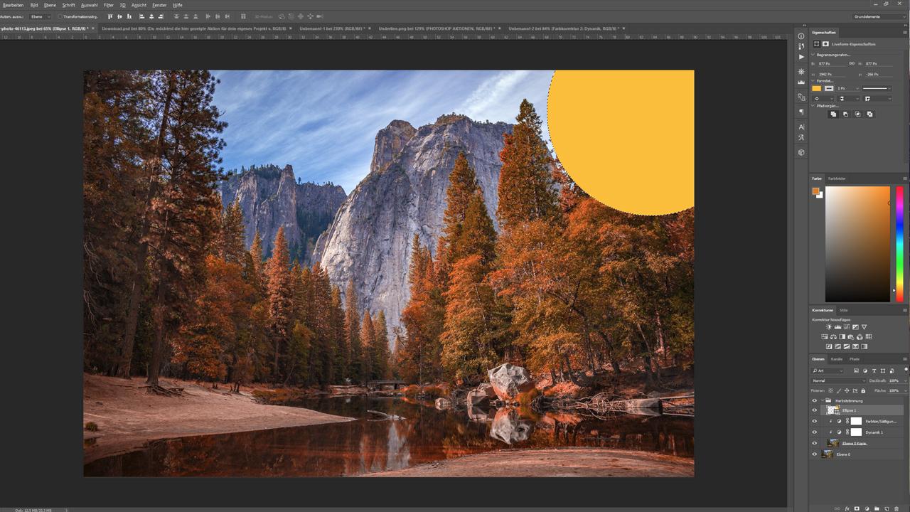 Photoshop-Tutorial: Mit Photoshop-Aktionen eine künstliche Lichtquelle erzeugen