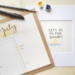 Instagram-Post: Kalendermonat Juli von Carolin Hohberg | @cayaline