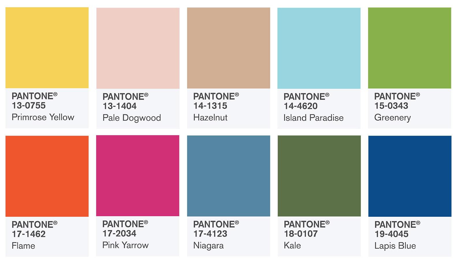 Pantone Color Report - Trendfarben im Frühling 2017 | © Pantone Color Institute