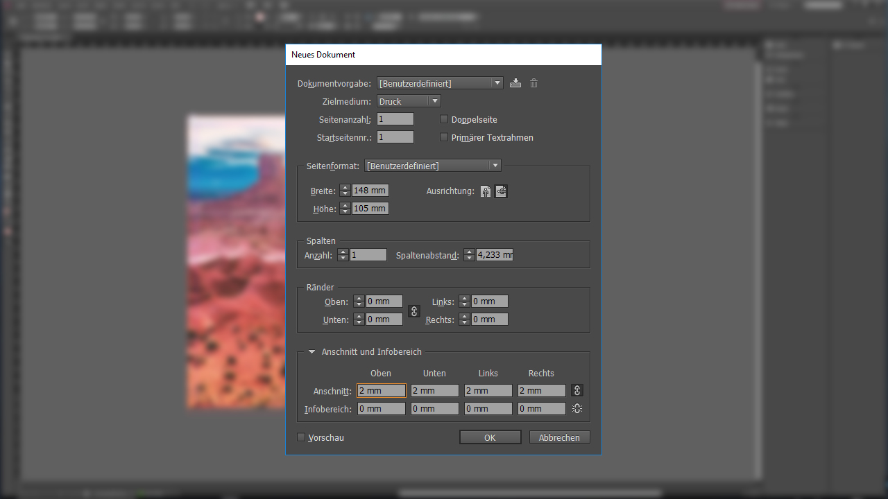 Tutorial: Photoshop, Illustrator oder InDesign - Dokument anlegen in InDesign