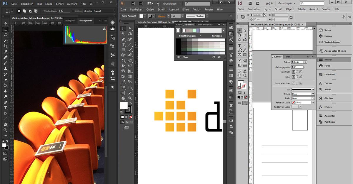 Druckdaten Erstellen Photoshop Illustrator Oder Indesign