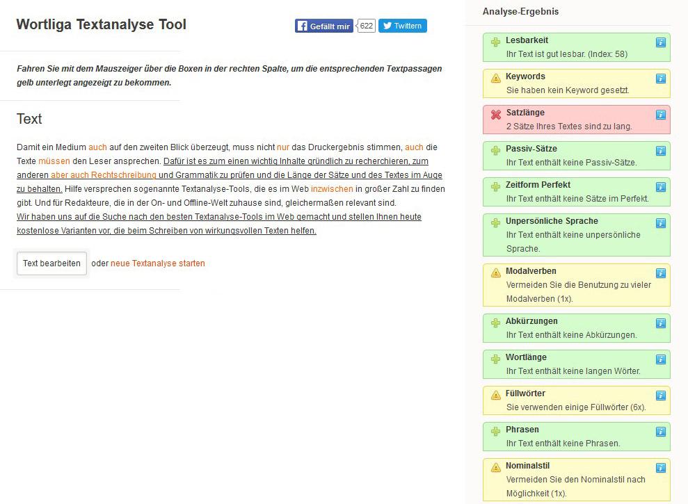 Kostenlose Textanalyse Tools Zum Optimieren Von Inhalten