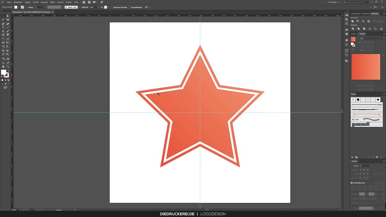 Stern mit Kontur