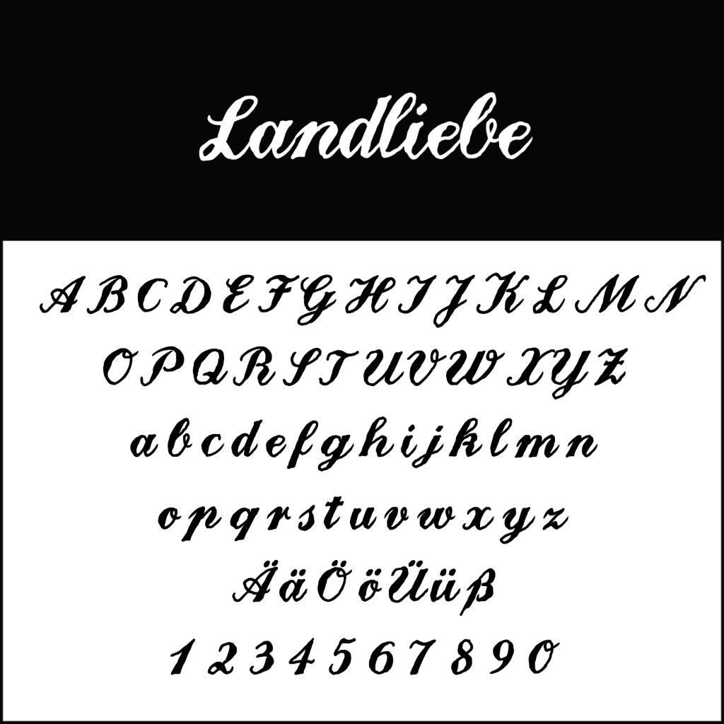 Schnoerkelschrift-Landliebe-diedruckereide