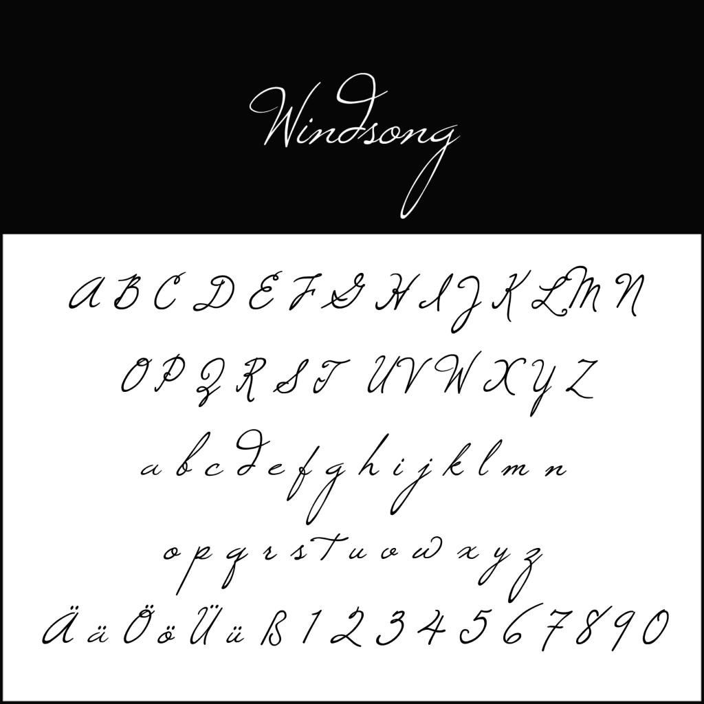 Blickfang Schnörkelschrift Kostenlose Fonts Zum Download
