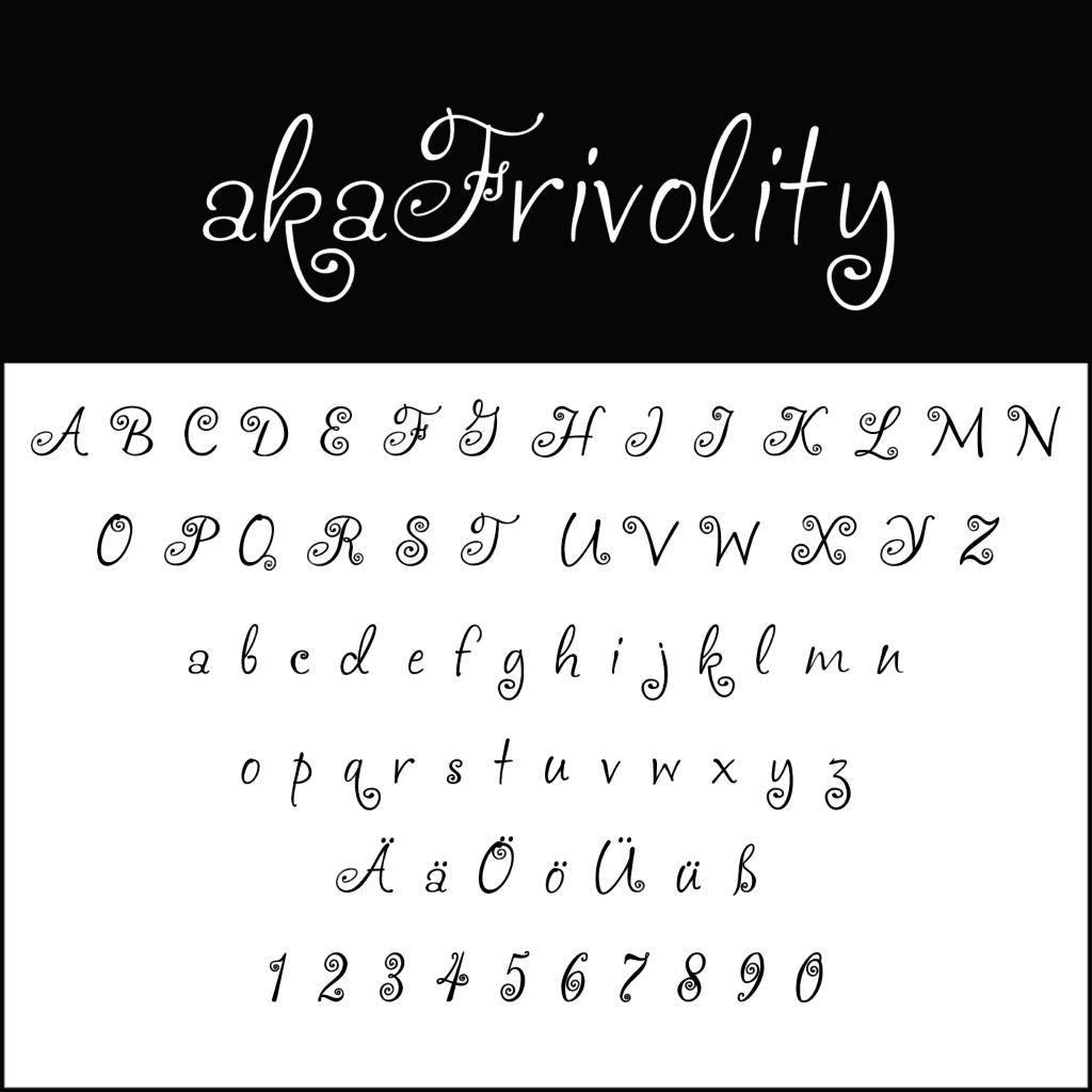 Schnoerkelschrift-akaFrivolity-diedruckereide