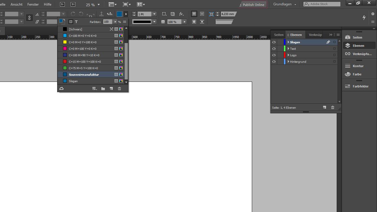 Banner-Design-InDesign-Tutorial: Farben anlegen