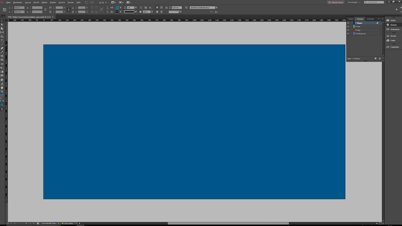 Banner-Design-InDesign-Tutorial: Hintergrundfläche