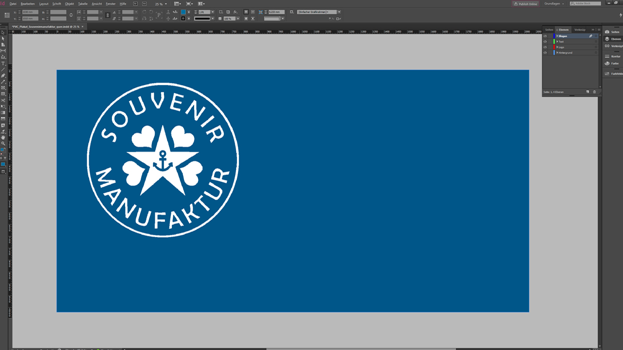 Banner-Design-InDesign-Tutorial: Design mit Logo