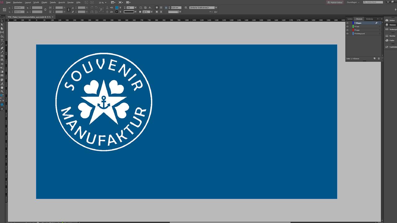 Banner-Design-InDesign-Tutorial: Design mit Logo
