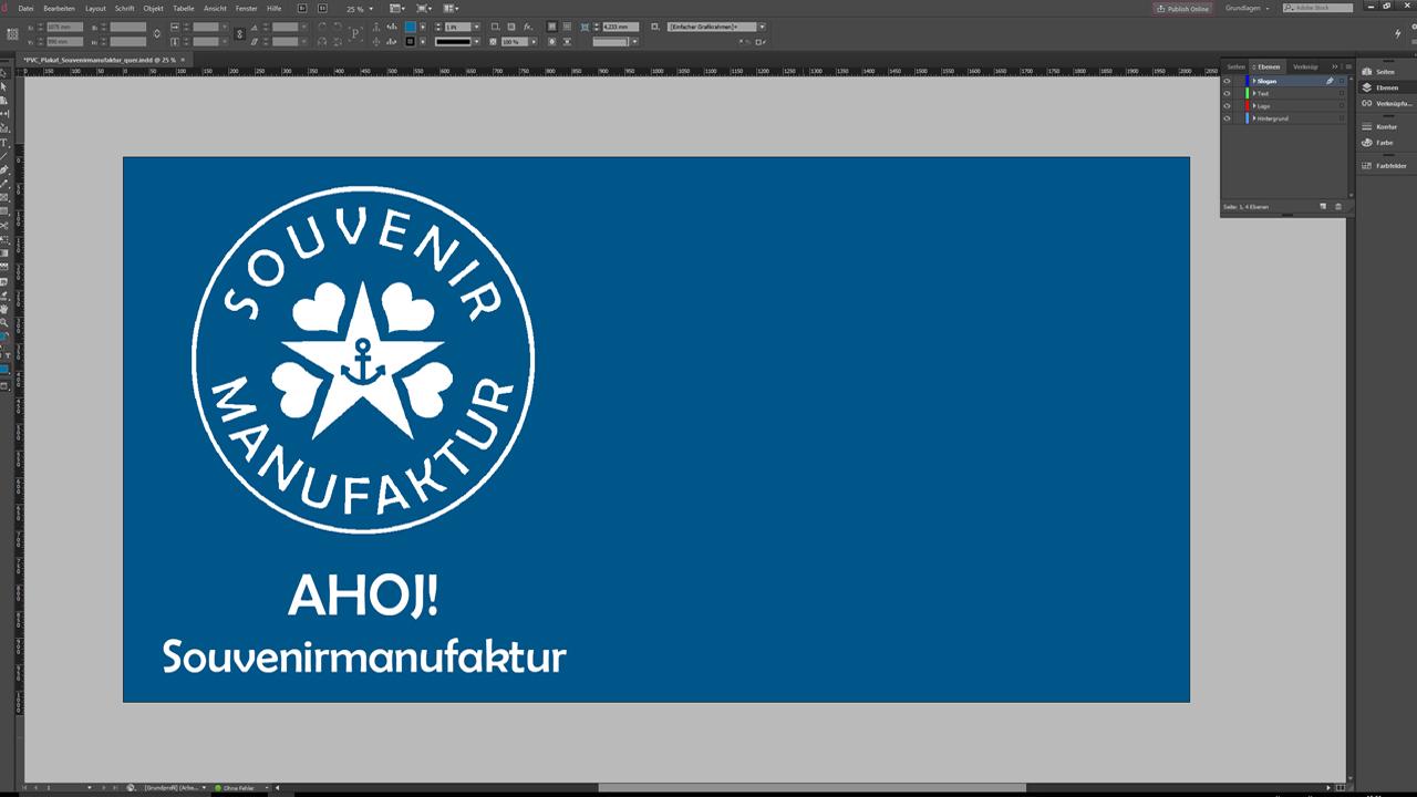 Banner-erstellen-InDesign-Tutorial: Design ohne Claim und URL
