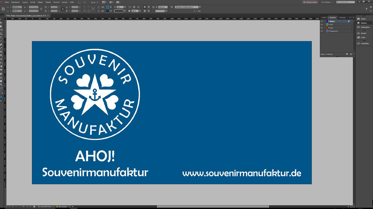 Banner-erstellen-InDesign-Tutorial: Design ohne Claim