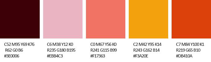 Herbstliche Farben Farbpalette Mit Cmyk Rgb Codes