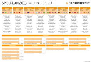 A2 Spielplan 2018 orange DE