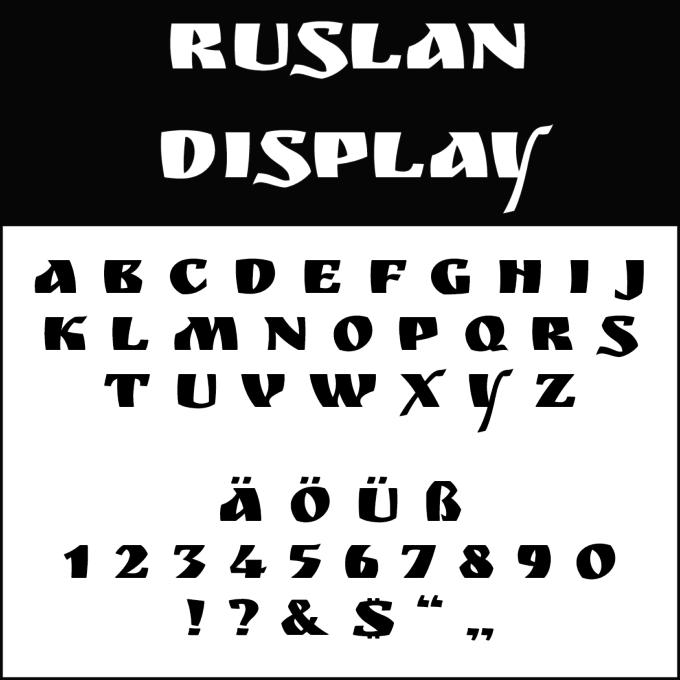 Font Template Ruslan Display