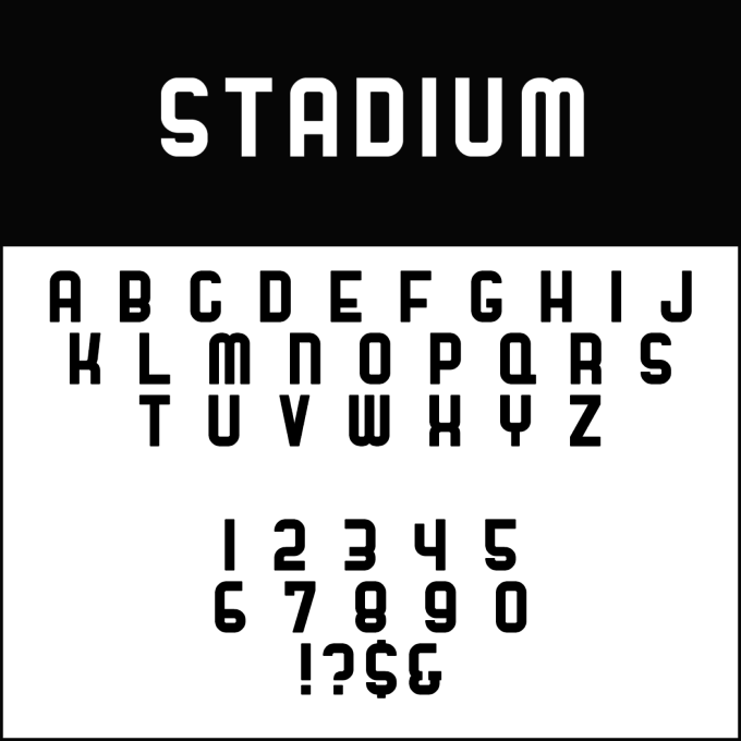 Font Template Stadium