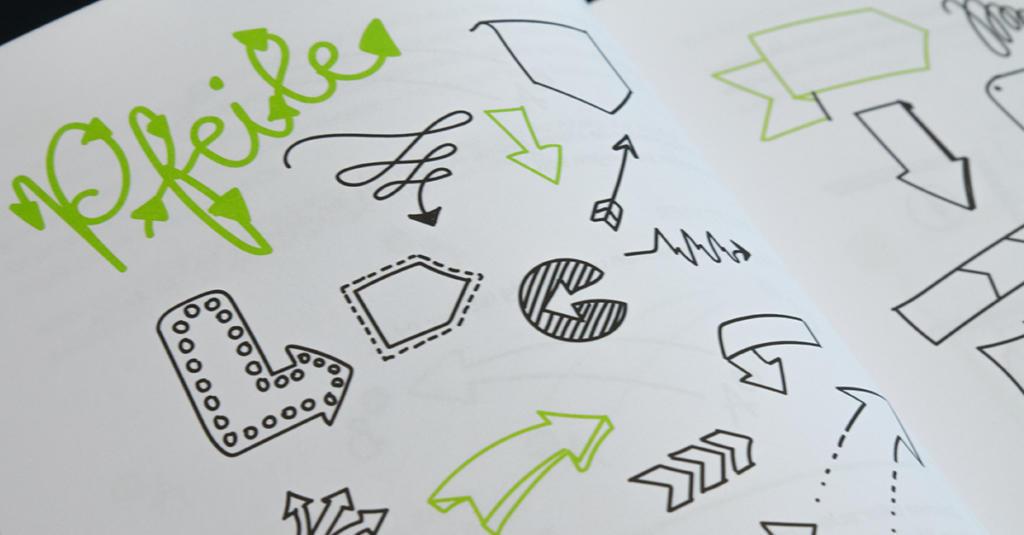Wegweisend und vielseitig: gezeichnete Pfeile.