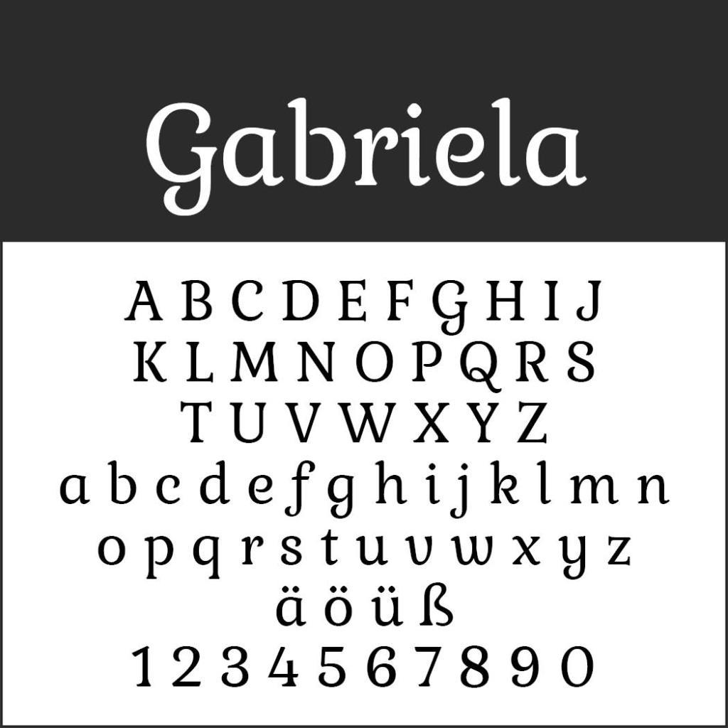 Gut lesbare Schriften Gabriela