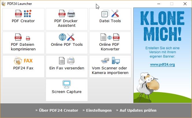 PDF zusammenführen mit dem PDF Launcher