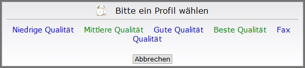 PDF-Qualität festlegen