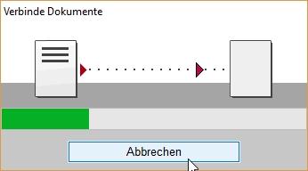 """Die Dokument-""""Verbindung"""" läuft ..."""