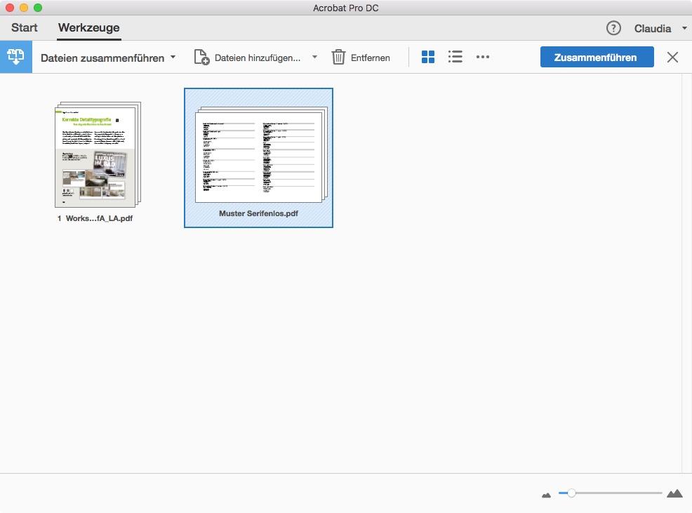 PDF-Dateien zusammenführen