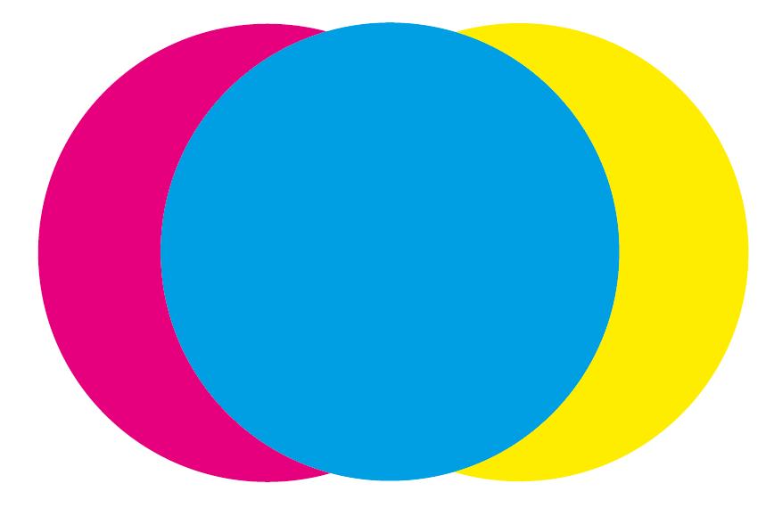 Sich überlagernde Farbkreise