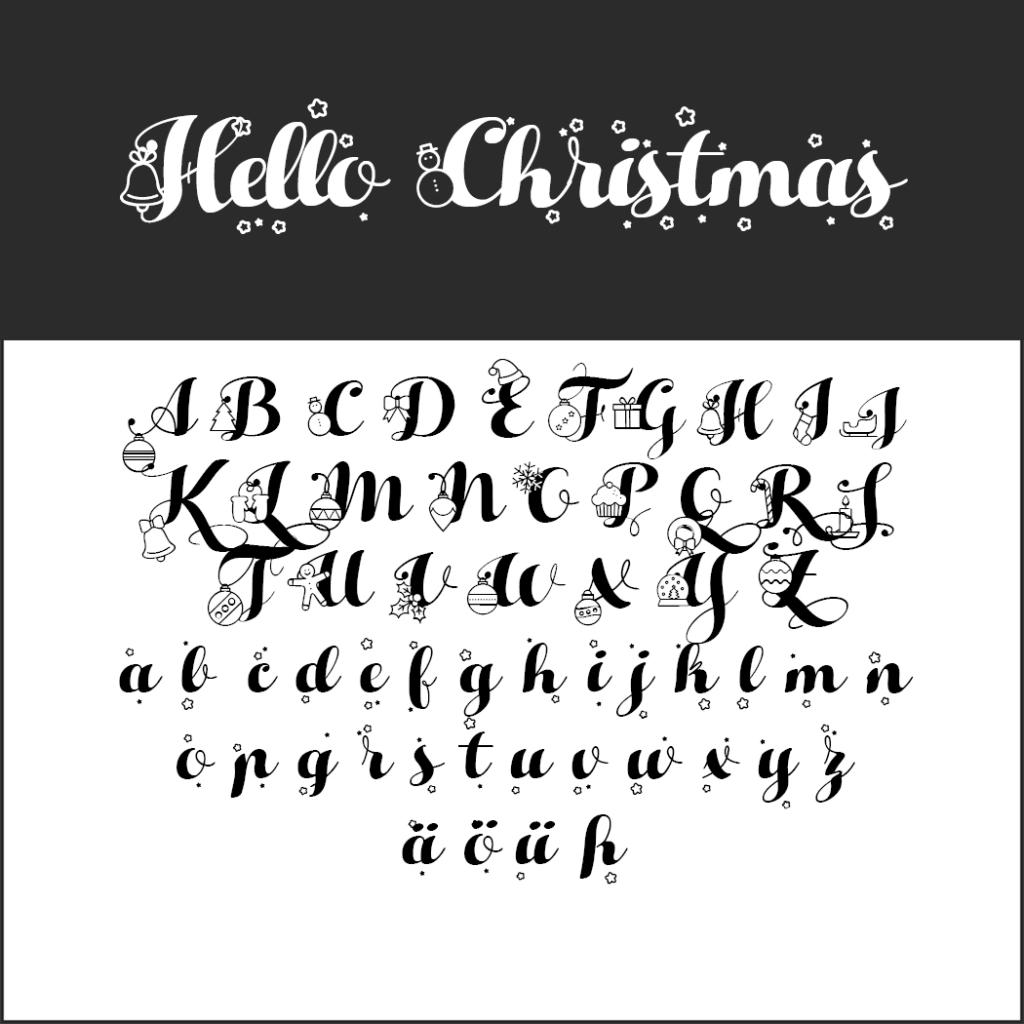 Schriftart Hello Christmas