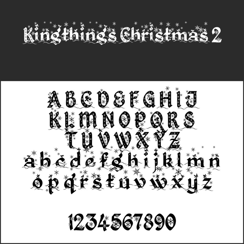 Schriftart Kingthings Christmas 2