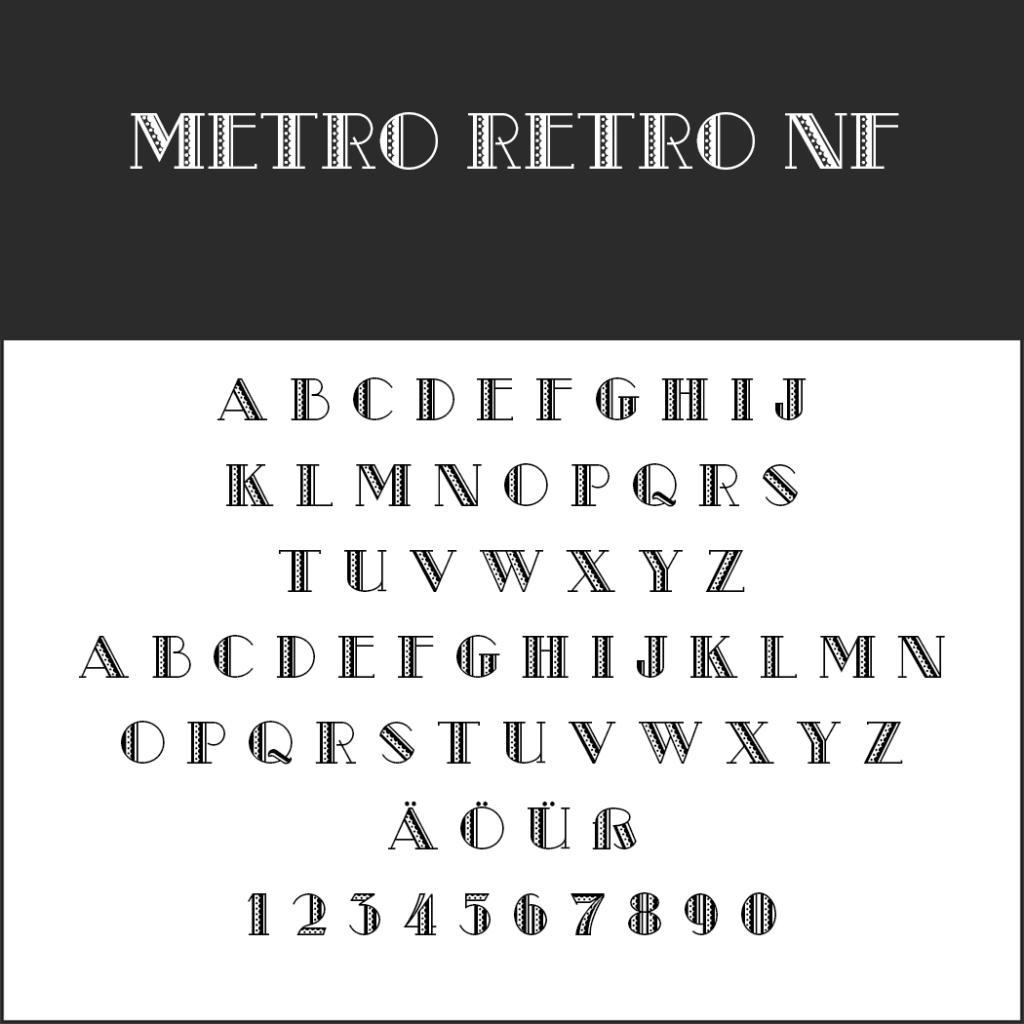 Schriftart Metro Retro NF