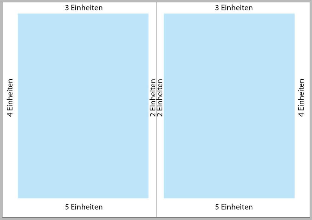 Satzspiegel mit der Zahlenreihe