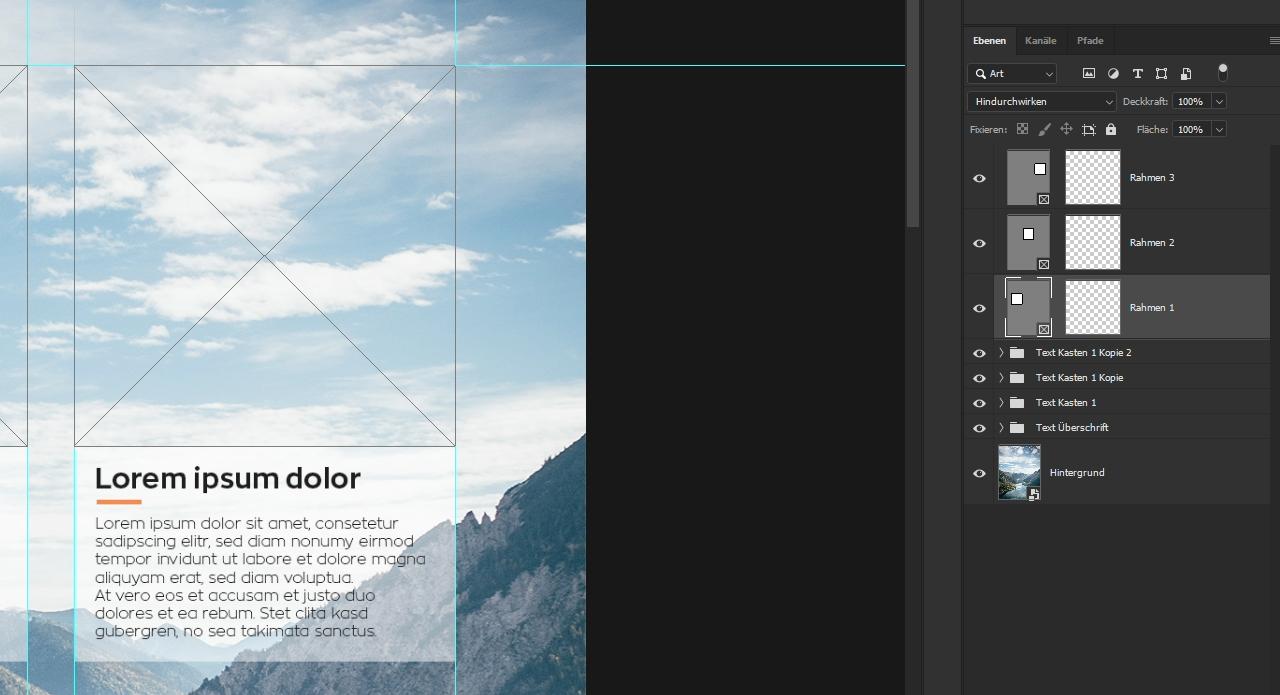 Photoshop textfeld mit hintergrund