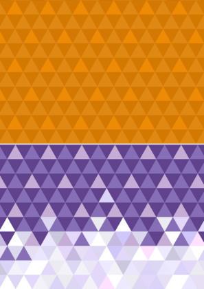 """Vorlagen """"Dreiecke"""" - orange und lila"""